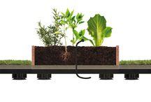 Roofingreen Nature Veg / Roofingreen Nature Veg è il sistema modulare brevettato per la realizzazione di Orti Urbani. Ogni modulo è costituito da un box con lo speciale terriccio fertile ECH2Olife, specifico per coltivare in 15 centimetri di spessore e un ridotto consumo idrico. Nature Veg è dotato di un impianto di irrigazione a goccia con 4 diffusori, realizzato sfruttando l'intercapedine tra il suolo e il modulo.
