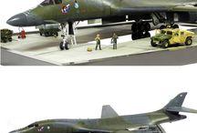 Model diorama / Model diorama. Cars, planes, boats, sea, islands, landscape, art ...