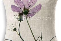 cojines con flores