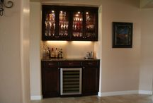 Home Bar / Dry Bar for alcove 65 inches wide, 9 feet tall.