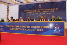 Convocation 2014 / Convocation for 2013 Batch was held on 21 Dec 2013. 656 students were awarded Degrees in M Tech, B Tech, MBA, BBA & LLM
