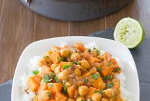 Sweet potato, chickpea curry