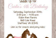 Horse theme birthday