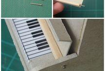 strumenti musicali in miniatura