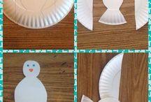 Trabalhos com pratos papel