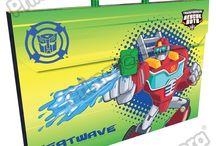 Maletines Plásticos Rescue Bots / Línea Escolar Primavera Regresa a Clases con TODO