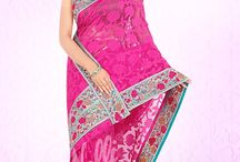 Embroidery Sarees / Various types of Embroidery Sarees in different  patterns and embellishments .