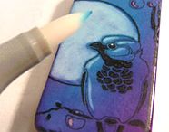 Rubber Stamped Domino Pendants and Tutorial / How to rubber stamp on domino game tiles, color, seal, make pendants or magnets. Example art projects and step by step tutorials for markers, alcohol inks, StazOn ink pads, chalk coloring and more.