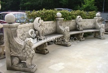 Stone benches and tables / Realization of stone benches and tables for garden ornaments.