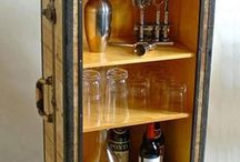 Kuffert som skab med glas