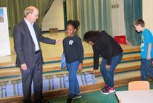 National Architecture Week 2016 / Alex Foundation, Heifer International and Pine Bluff architect Fred Reed Observe National Architecture Week With Book Donation  On The Built Environment at McGehee Elementary School