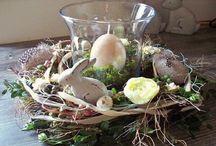 Húsvéti asztali díszek .