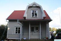 Inspirerande hus / Veranda, utbyggnad, trähus