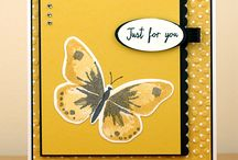 Watercolour Wings / Cards and other projects created by Cheryll using the Watercolour Wings stamp set from Stampin' Up!