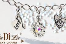 LeDiLe / Чармы – это маленькие серебряные подвески-талисманы, которые собираются на специальный браслет. Они отражают самые важные события жизни,  несут определенный смысл или же просто носятся как украшение.  У каждого чарма есть замочек, с помощью которого он крепится к браслету.