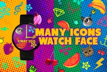 Many Icons Watch Face / It's all about icons. Many icons.
