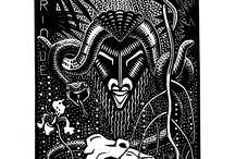 Gravures d'illustrations de Paul Jacob Hians / graphisme