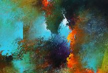 abstract art / stunning combination of colours
