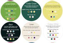 Barvy a různé kombinace