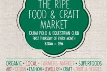 The Ripe Food and Craft Market @ The Dubai Polo and Equestrian Club / Nestled between the magnificent polo fields and an outdoor pool area, The Ripe Food & Craft Market at the Dubai Polo and Equestrian Club is the perfect morning out every Thursday to meet with friends, stock up on seasonal, organic fruits and vegetables all handpicked from local farms, shop for pantry essentials like coconut oil, superfoods, honey or eggs, and browse the stalls of some of the city's best foodies, artisans and local businesses.
