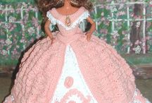 Barbie crochet pink and white