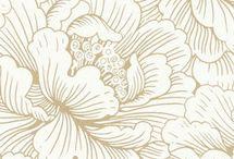 cream flower design