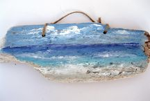 Driftwood paintings