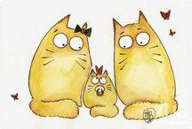 Котики Марии Ван Брюгген / Здесь сохраняются арты с котиками от Марии Ван Брюгген