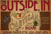 Artisan Food Bazaar / The OUTSIDE IN will host an opportunity to meet, taste and buy artisan foods in a bazaar-style market in their art gallery and greenhouse spaces from 10am-3pm Sunday, March 17th, 2013.  Modeled after the successful Smorgasburg at the Brooklyn Flea, the intent is to grow the businesses of aspiring food craft entrepreneurs by providing a compelling and unique venue to test new dishes, receive customer feedback and build a following. The OUTSIDE IN's Artisan Food Bazaar will feature a diverse local