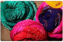 Bandhani Sarees / Unique Tie-and-Dye technique that make the Bandhani sarees so endearing!