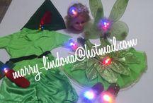 Fantasia completa com luzes Peter Pan e Fada Sininho .WhatsApp 21996784891