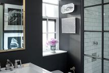 BATHrooms we LOVE! / Tile, tubs and toilets. We LOVE them! / by Stray Dog Designs