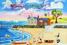Summer themed beach scenes / My latest happy summer paintings