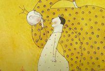 Illustrazioni in giallo / Illustrazioni e dipinti nei colori del sole