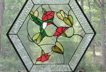 Stained Glass Panels and Lamps / Larger stained glass pieces for a window, kitchen or cabinet door, lamps, etc.