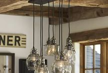 sand dollar lighting / lights for outside entrance barn and in the house / by LAURI CHASE