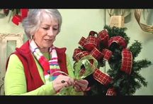 How to Make a Christmas Bow / Learn to make a beautiful Christmas Wreath for your door with Nancy Alexander of Ladybug Wreaths. www.LadybugWreaths.com / by Ladybug Wreaths, Nancy Alexander