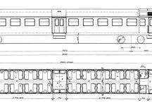 vlaky - plánky a výkresy vozidel
