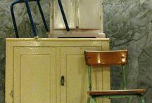 Vintage, Industrieel en Brocante voor kinderkamer woonkamer winkelinrichting Delft / Goed gebruikte vondsten uit Frankrijk, België en Nederland; Vintage kasten, stoelen, tafels, bureaus, kindermeubels, verlichting en meer.