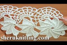 crochet spiral flower lace