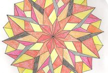 Zodiac mandalas / Mandalas of my friends. Thin marker, crayons, lots of time :-)