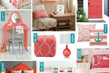 Coral Color Decor Staging