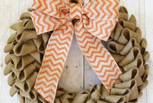 Ladies Crafty night / Burlap wreath / by CandiandBrian Reese