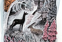 Linocut Prints / Lots of lovely linocuts for you to enjoy!