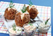 Jacket Potatoes / Interesting filling and topping ideas to jazz up your jacket potatoes.