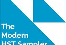 Modern HST Sampler Quilt
