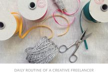 FREELANCER : DAILY ROUTINES / Blog posts from the Daily Routine of a Creative Freelancer blog series
