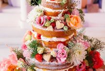 Naked Wedding Cakes / Flower ideas for naked wedding cakes