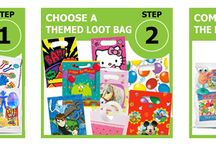 """Pre-filled party bags and loot/party bags / Great value pre-filled party bags for children's party's, ready for you to hand out to your guests from only 99p! Including sweets, stationery and great gifts. There are a huge choice of themed party bags available so the pre-filled bags come in clear bags, 5""""x7"""" (137cm x190cm) and are resealable. You then purchase a themed party bag, cello bag, gift bag of your choice which are separately to coordinate with your party"""