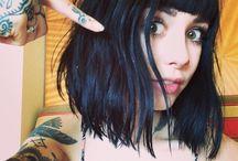 Inspirations / Style, makeup & tattos... Hannah Snowdon, Juliet Simms & Bill Kaulitz style ;) And others...